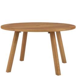 DISCUS • Gartentisch / Esstisch rund • Ø130cm • Gestell & Platte Teak • mit Schirmdurchlass • ROYAL BOTANIA