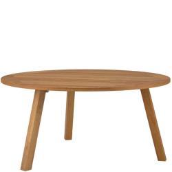DISCUS • Gartentisch / Esstisch rund • Ø160cm • Gestell & Platte Teak • mit Schirmdurchlass • ROYAL BOTANIA