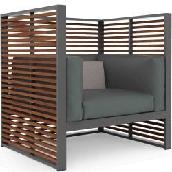 DNA • Lounge-Sessel / Loungechair • inkl.Polster • SILLÓN NORMANDO • div.Farben • GANDIA BLASCO