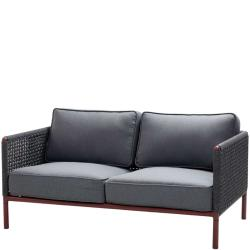 ENCORE • Outdoor 2-Sitzer Sofa • Bordeaux / Dunkelgrau • Cane-line