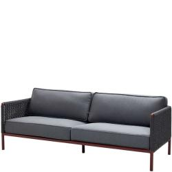 ENCORE • Outdoor 3-Sitzer Sofa • Bordeaux / Dunkelgrau • Cane-line