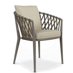 ERICA • Gartenstuhl mit Armlehnen •Inkl. Sitzpolster • div.Farben • B&B Italia