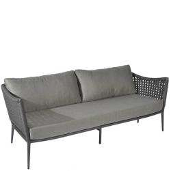 ESTORIL • Outdoor 2-Sitzer Sofa • Gestell Anthrazit • Gurtbespannung in Dunkelgrau • BOREK