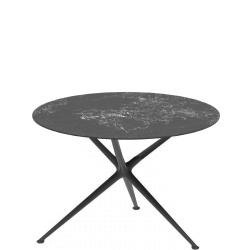 EXES • Gartentisch / Esstisch • Ø120cm • Aluminiumgestell • Teak-oder Keramikplatte • ROYAL BOTANIA