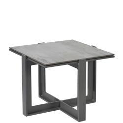 FARO • Outdoor Beistelltisch • 53×53cm • Aluminium • DEKTON®-Tischplatte • BOREK