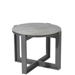 FARO • Outdoor Beistelltisch • Ø53cm • Aluminium • DEKTON®-Tischplatte • BOREK