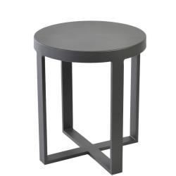 FORCE • Outdoor Beistelltisch • Ø47,5cm • Aluminium Anthrazit • BOREK