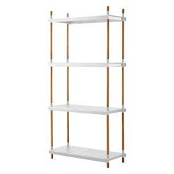 FRAME • Regal Grundmodul komplett • Aluminium Weiß & Teak • cane-line