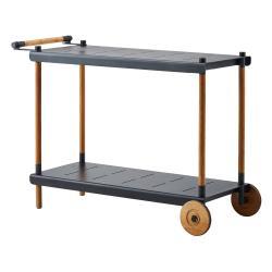 FRAME • Servierwagen / Trolley • Lavagrau & Teak • cane-line