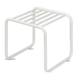 FUORI • Hocker / Beistelltisch • Aluminiumgestell Weiß • SKAGERAK