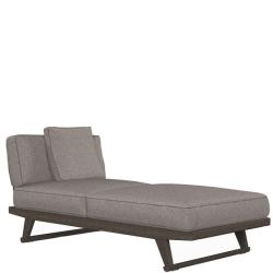 GIO • Loungemodul CHAISE LONGUE-Element 197cm LINKS • div.Stoffbezüge • Teakholz • B&B Italia