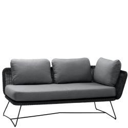 HORIZON • 2-Sitzer-Modulsofa LINKS • Farbe Schwarz • Cane-line