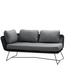 HORIZON • 2-Sitzer-Modulsofa RECHTS • Farbe Schwarz • Cane-line