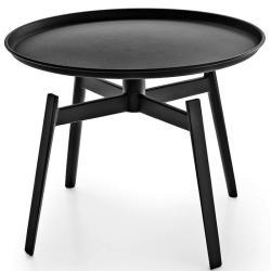 HUSK • Beistelltisch Ø62,5cm • Schwarz oder Weiß • B&B Italia
