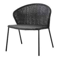 LEAN • Loungesessel / Loungechair / Stapelsessel • Schwarz • cane-line