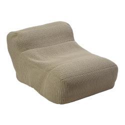 LENO • Outdoor Sitzsack • gehäkelte Ardenza Outdoor Faser • Farbe sand • BOREK