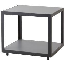 LEVEL • Couchtisch / Beistelltisch • 48x48cm • Gestell Schwarz oder Weiß • Keramikplatte Hellgrau • cane-line