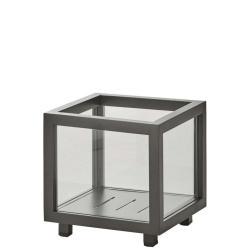 LIGHTBOX • Laterne / Pflanzbox • 23×23×H22cm • Lavagrau • Aluminium & Glas • Cane-line