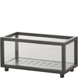 LIGHTBOX • Laterne / Pflanzbox • 46×23×H22cm • Lavagrau • Aluminium & Glas • Cane-line