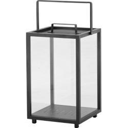 LIGHTHOUSE • Laterne L • Lavagrau • Aluminium & Glas • Cane-line