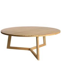 LIMONE • LOW DINING Gartentisch • Ø184 × H69cm • Teakholz • BOREK
