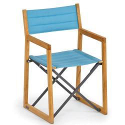 LOFT • Klappstuhl / Gartenstuhl mit Armlehnen • Bespannung Batyline® oder Acryltuch • Gestell Teak • WEISHÄUPL
