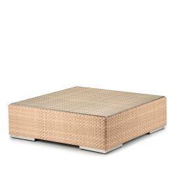 LOUNGE • Loungemodul Couchtisch / Loungetisch • 110×110 • Bleach, Java oder Taupe • inkl.Glasplatte • DEDON