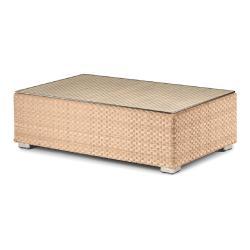LOUNGE • Loungemodul Couchtisch / Loungetisch • 65x100cm • inkl.Glasplatte • Bleach oder Java • DEDON
