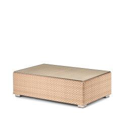LOUNGE • Loungemodul Couchtisch / Loungetisch • 65x110  Bleach, Java oder Taupe • inkl.Glasplatte • DEDON