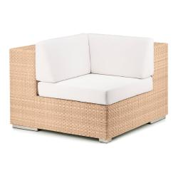 LOUNGE • Loungemodul ECK-Element • Bleach, Java oder Taupe • Polsterset exklusive • DEDON