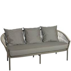 MAJINTO • Outdoor 3-Sitzer Sofa • Aluminium • Ardenza Gurt-Bespannung • BOREK