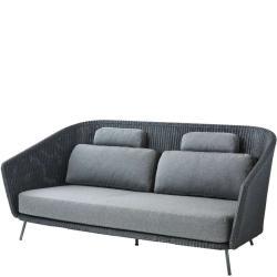 MEGA • Outdoor 2-Sitzer Sofa • Graphit • Cane-line