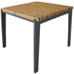 MERANO • Gartentisch / Esstisch • 80×80cm • Aluminium • Teakholz • BOREK
