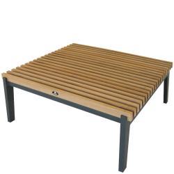 MERANO • Outdoor Couchtisch / Loungetisch • Aluminium • Teakholz • BOREK