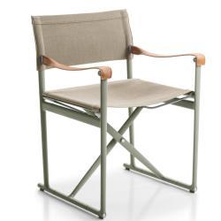 MIRTO • Gartenstuhl mit Armlehnen aus Kernleder / Klappstuhl • div.Farben • B&B Italia