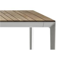 MIRTO • Gartentisch / Esstisch • 100x220cm • Aluminium & Iroko • div.Farben • B&B Italia