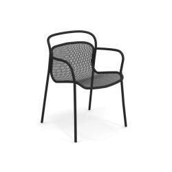 MODERN • Gartenstuhl mit Armlehne / Stapelstuhl • div. Farben • EMU