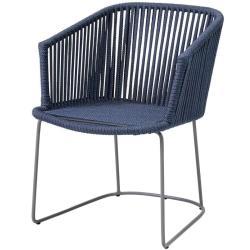 MOMENTS • Gartenstuhl mit Armlehnen • Blau • exkl.Sitzpolster • Cane-line