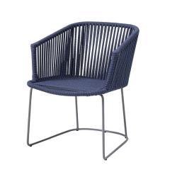 MOMENTS • Gartenstuhl mit Armlehnen / Kufenstuhl • inkl.Kissen SoftTouch® Grau oder Hellgrau • cane-line