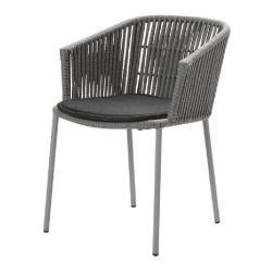 MOMENTS • Gartenstuhl mit Armlehnen / Stapelstuhl • inkl.Kissen SoftTouch® Grau oder Hellgrau • cane-line