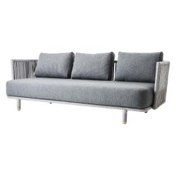 MOMENTS • Lounge 3-Sitzer Sofa • inkl.Kissensatz SoftTouch® Grau • cane-line