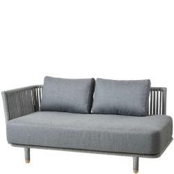 MOMENTS • Loungemodul 2-Sitzer Sofa • Armlehne RECHTS • inkl.Kissensatz AirTouch® Grau • Cane-line
