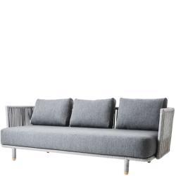 MOMENTS • Outdoor Lounge 3-Sitzer Sofa • inkl.Kissensatz AirTouch® Grau • Cane-line