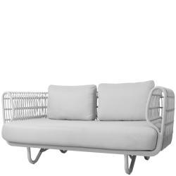 NEST OUTDOOR • 2-Sitzer-Sofa • Weiss • Cane-line