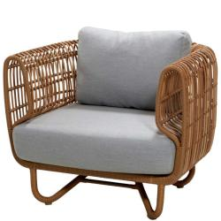 NEST OUTDOOR • Outdoor Loungesessel / Loungechair • Farbe Natur • Cane-line