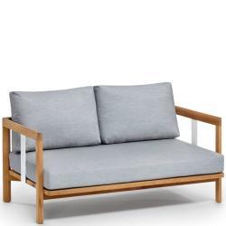 NEW HAMPTON • 2-Sitzer-Sofa • inkl.Polster-Set mit Acryltuchbezug • Teak • WEISHÄUPL