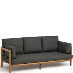 NEW HAMPTON • 3-Sitzer-Sofa • inkl.Polster-Set mit Acryltuchbezug • Teak • WEISHÄUPL
