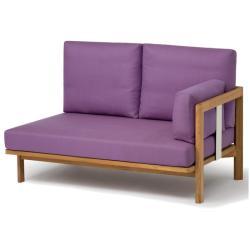 NEWPORT • Loungemodul 2-Sitzer Sofa RECHTS • Teak • WEISHÄUPL