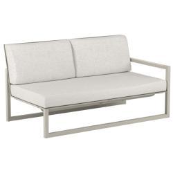NINIX LOUNGE • Loungemodul 2-Sitzer Sofa • Armlehne LINKS • Aluminium Sand • Polster optional • ROYAL BOTANIA