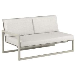 NINIX LOUNGE • Loungemodul 2-Sitzer Sofa • Armlehne RECHTS • Aluminium Sand • Polster optional • ROYAL BOTANIA